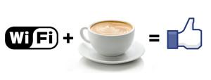 Gratis Wifi met koffie is een like
